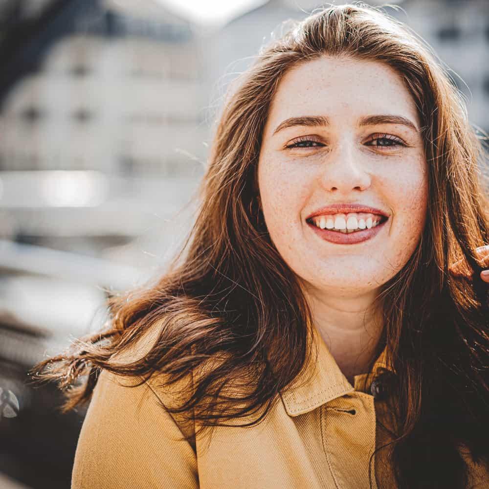 Fogpótlások lány mosoly